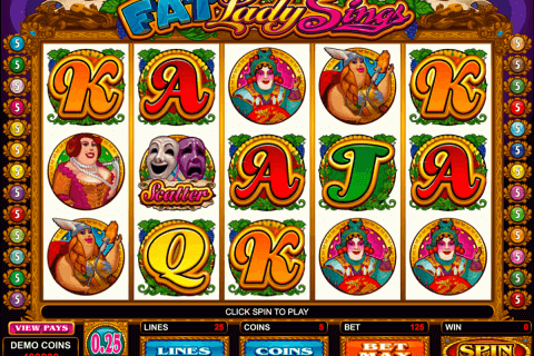 fat lady sings microgaming pokie