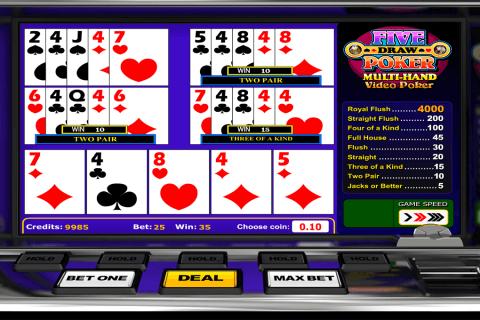 five draw poker betsoft video poker