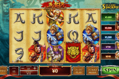 five tiger generals playtech pokie