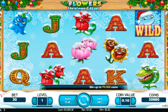flowers christmas edition netent pokie