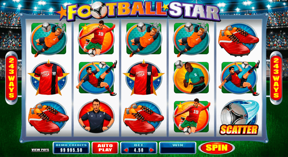 football star microgaming pokie