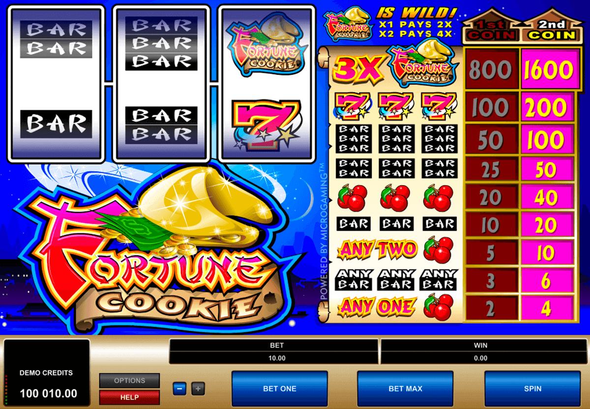 fortune cookie microgaming pokie