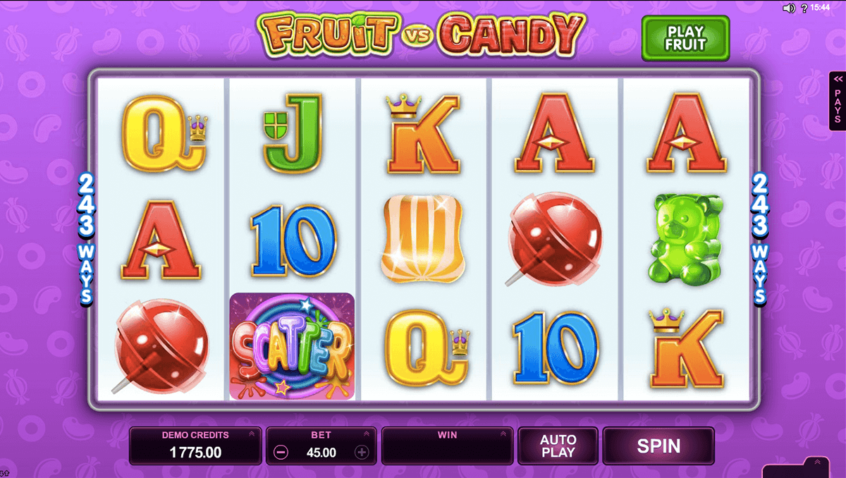 Play Fruit vs. Candy Slot Machine No Download
