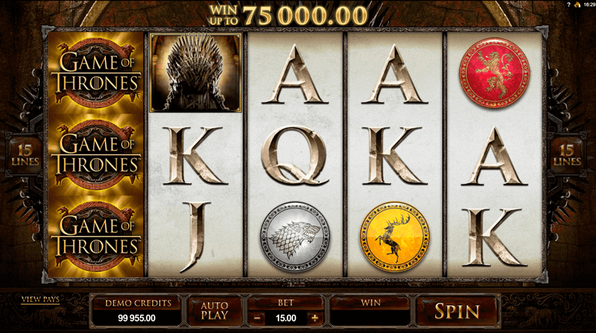 game of thrones 15 lines microgaming pokie
