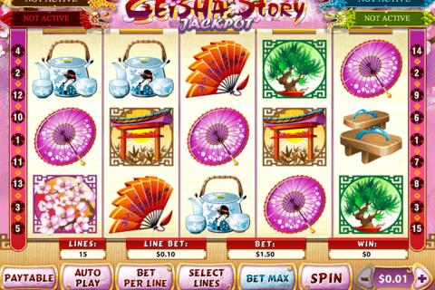 geisha story jackpot playtech pokie