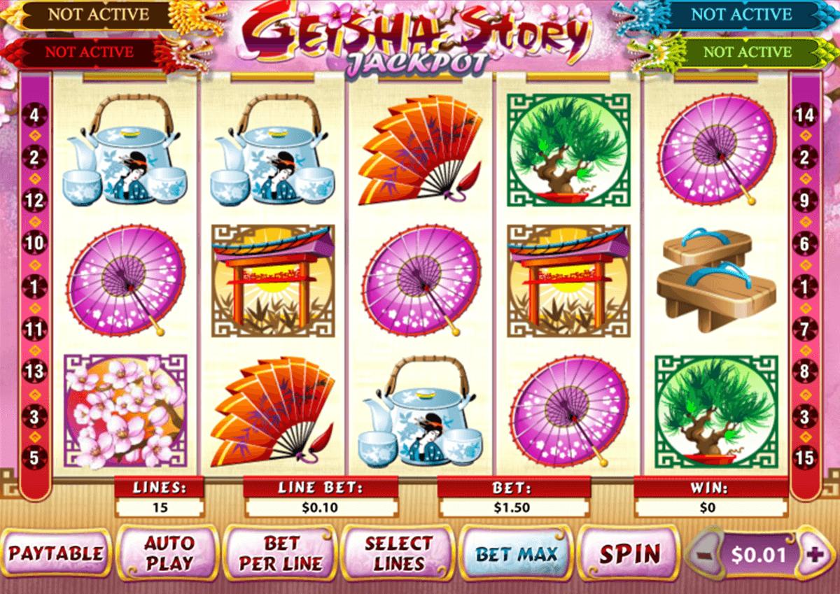 Geisha slot machine jackpot