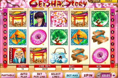 geisha story playtech pokie