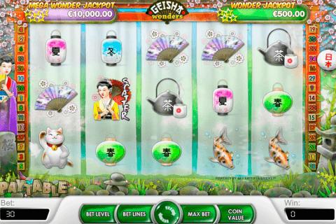 geisha wonders netent pokie