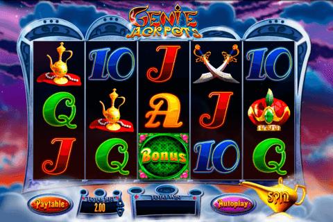 genie jackpots blueprint pokie