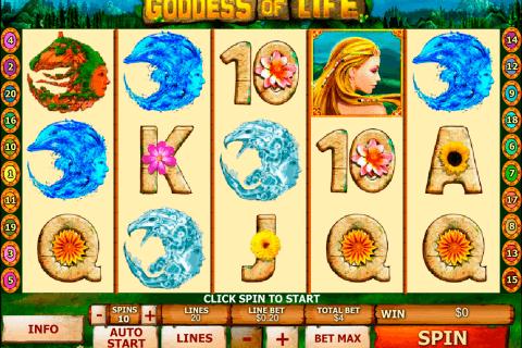 goddess of life playtech pokie