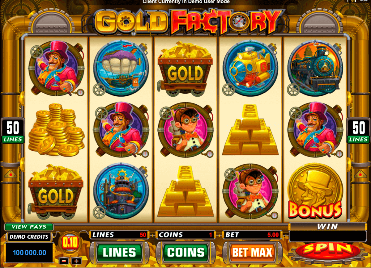 gold factory microgaming pokie