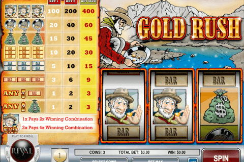 gold rush rival pokie