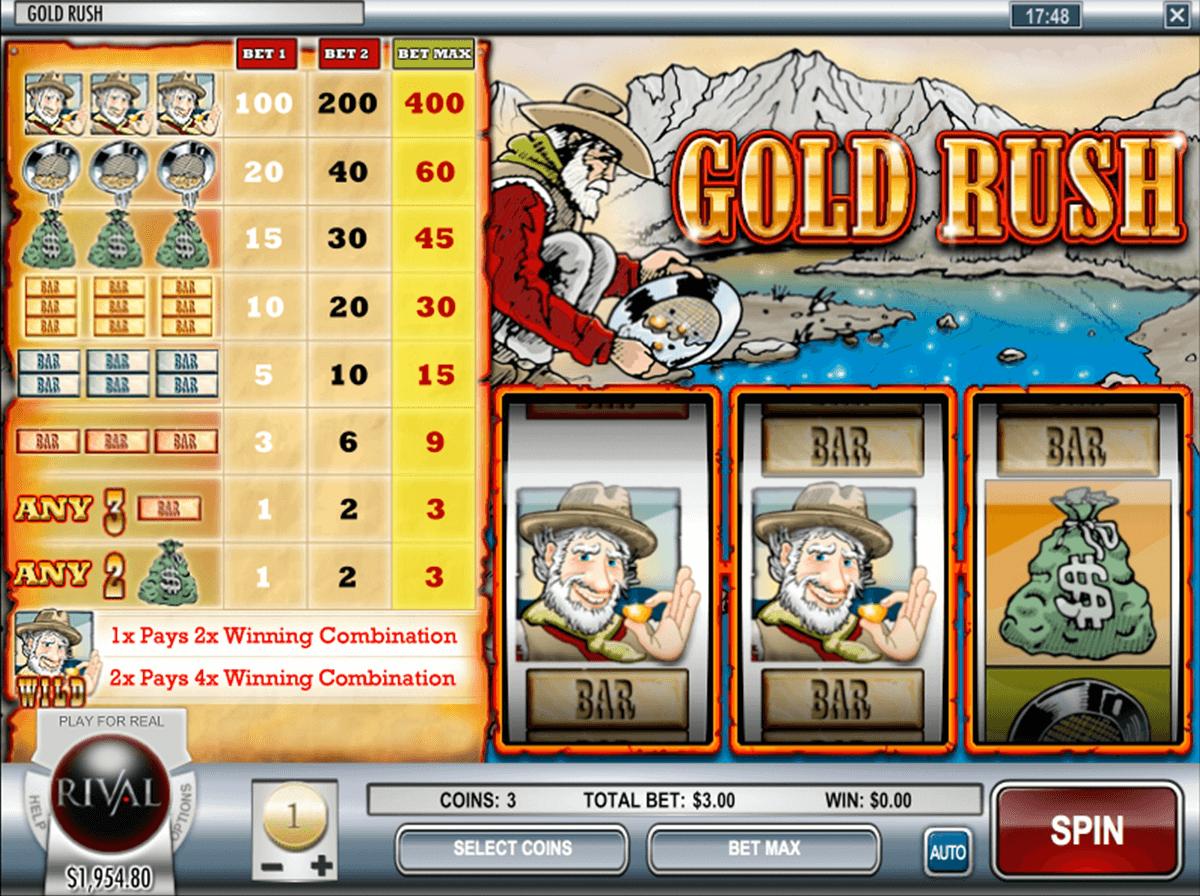 gold rush rival pokie