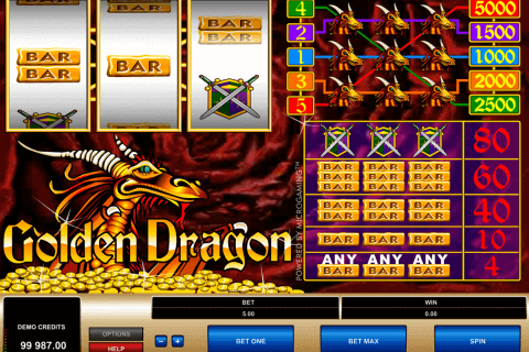 golden dragon microgaming pokie