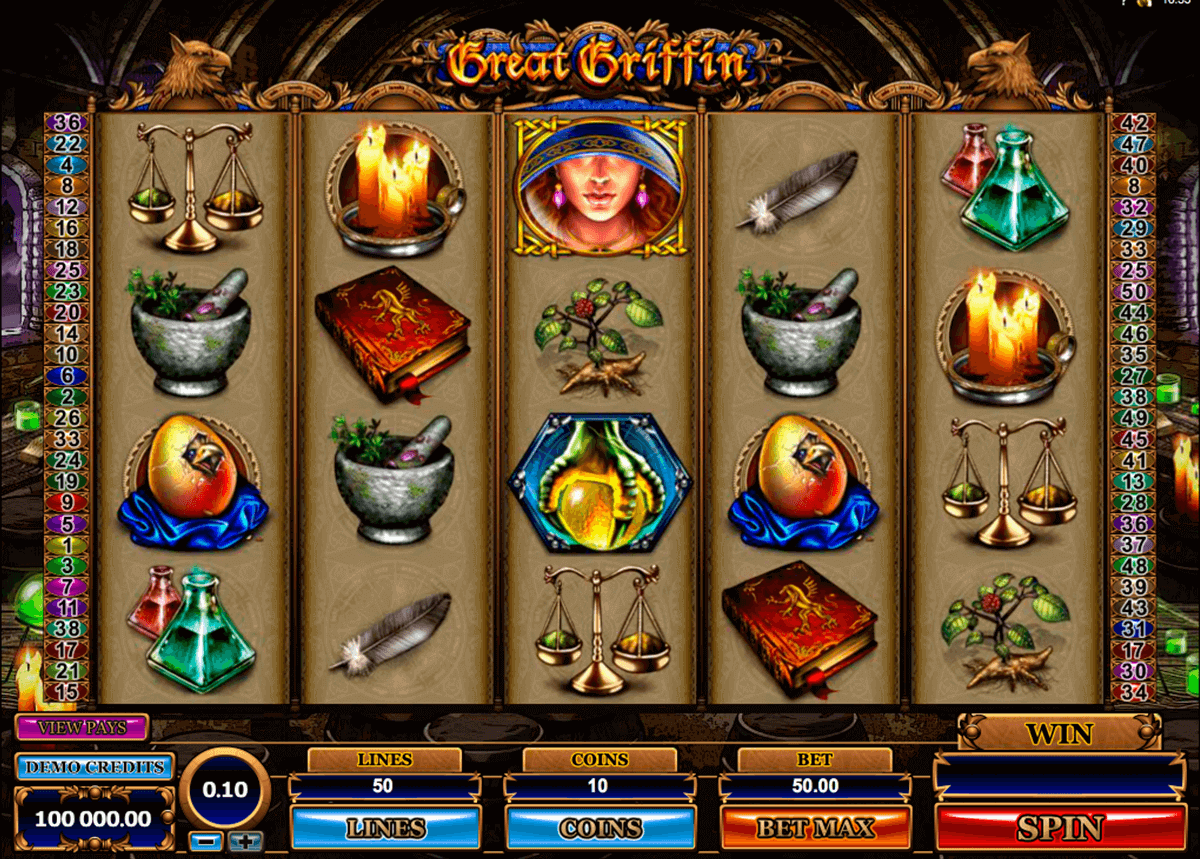 great griffin microgaming pokie