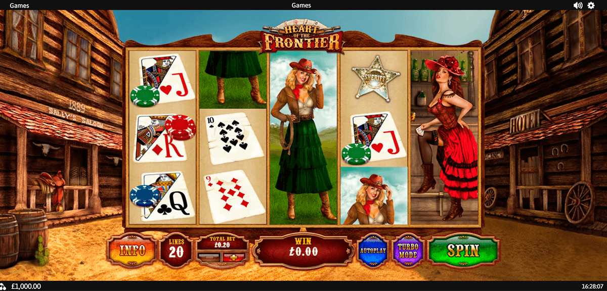heart of the frontier playtech pokie