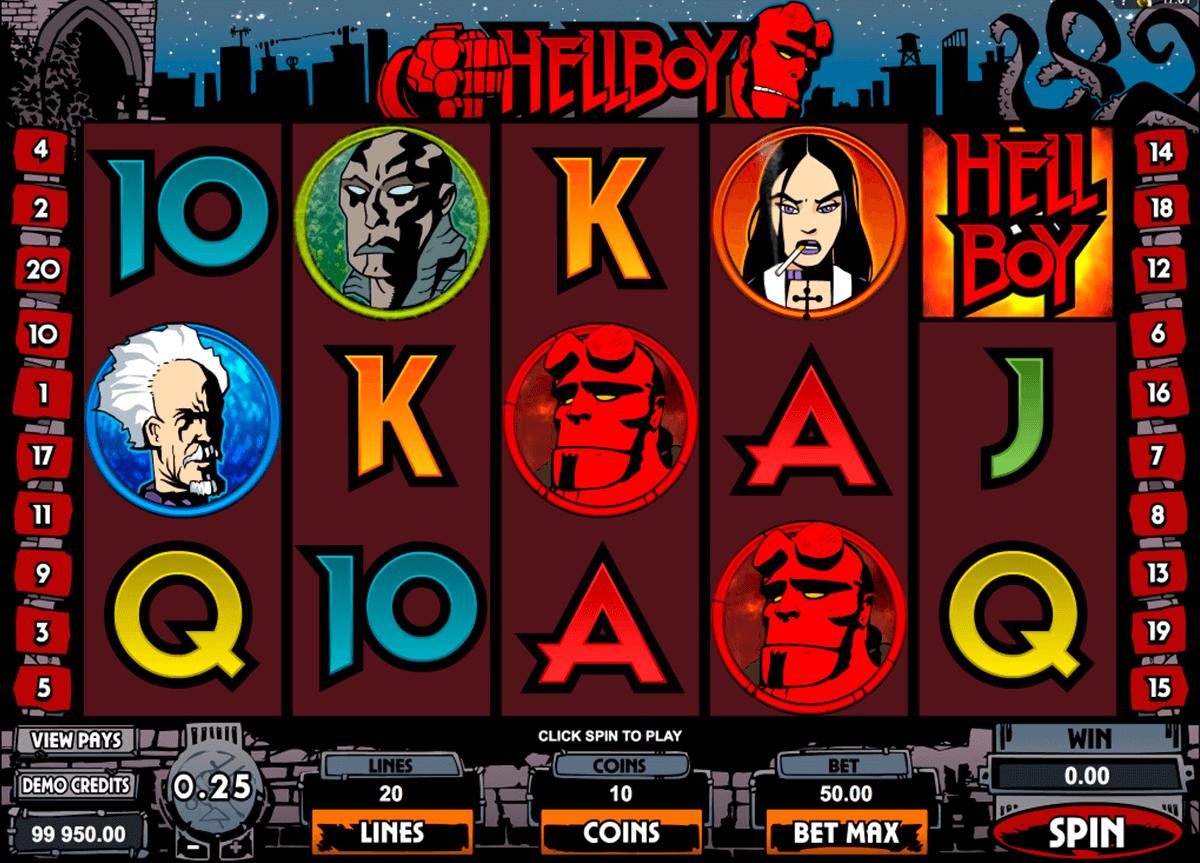 hellboy microgaming pokie