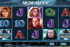 highlander microgaming pokie