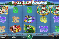 holly jolly penguins microgaming pokie