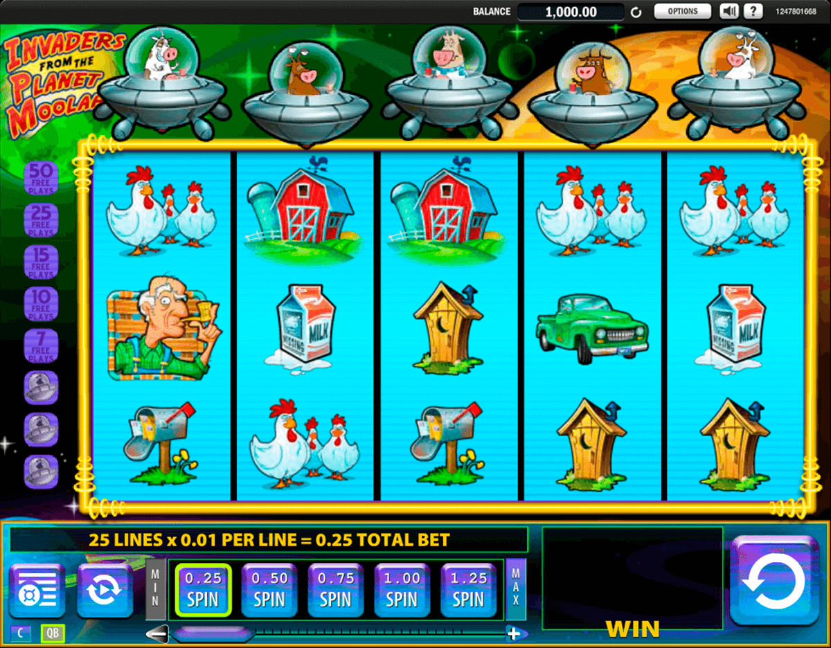 invaders from the planet moolah wms pokie