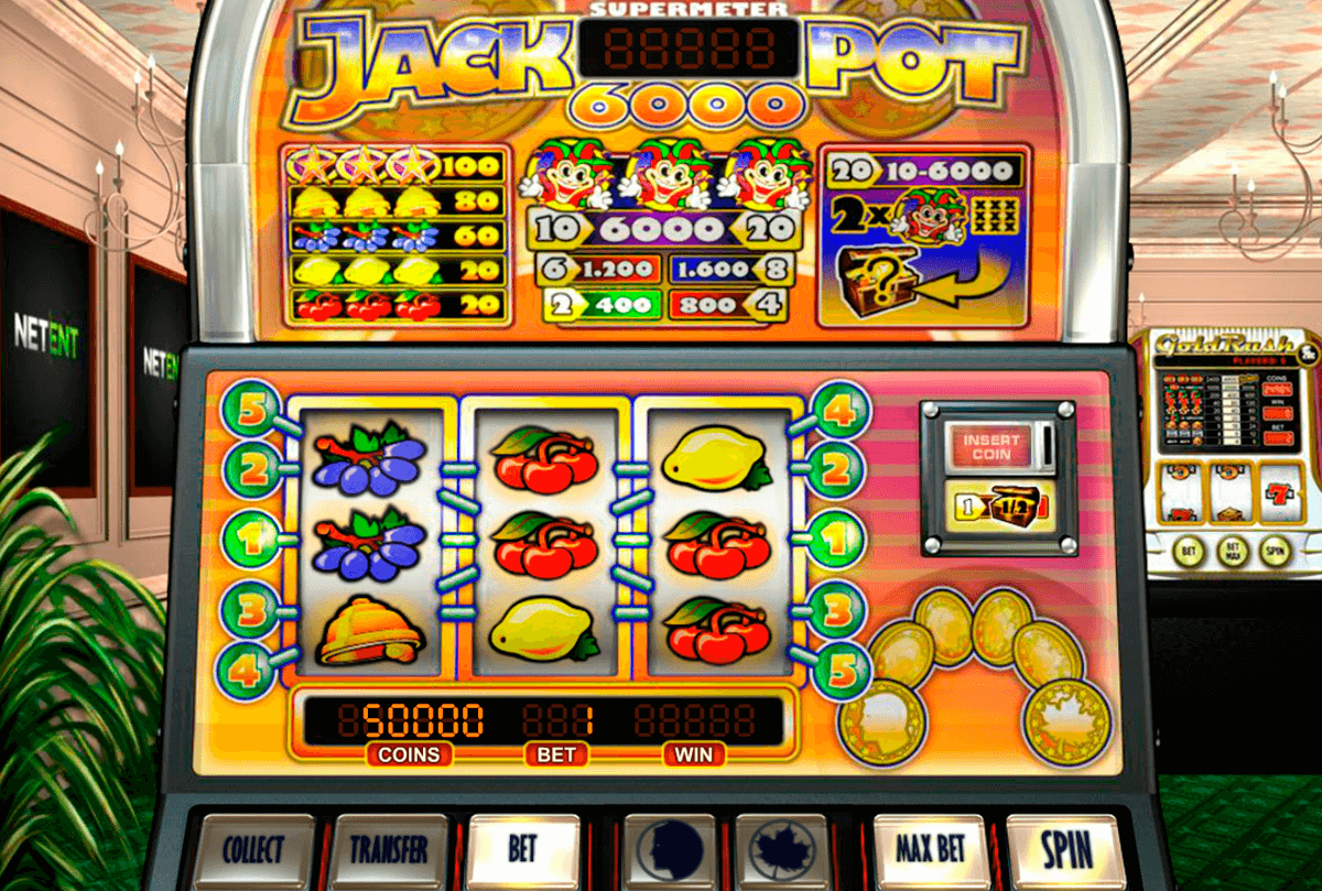 jackpot 6000 netent pokie
