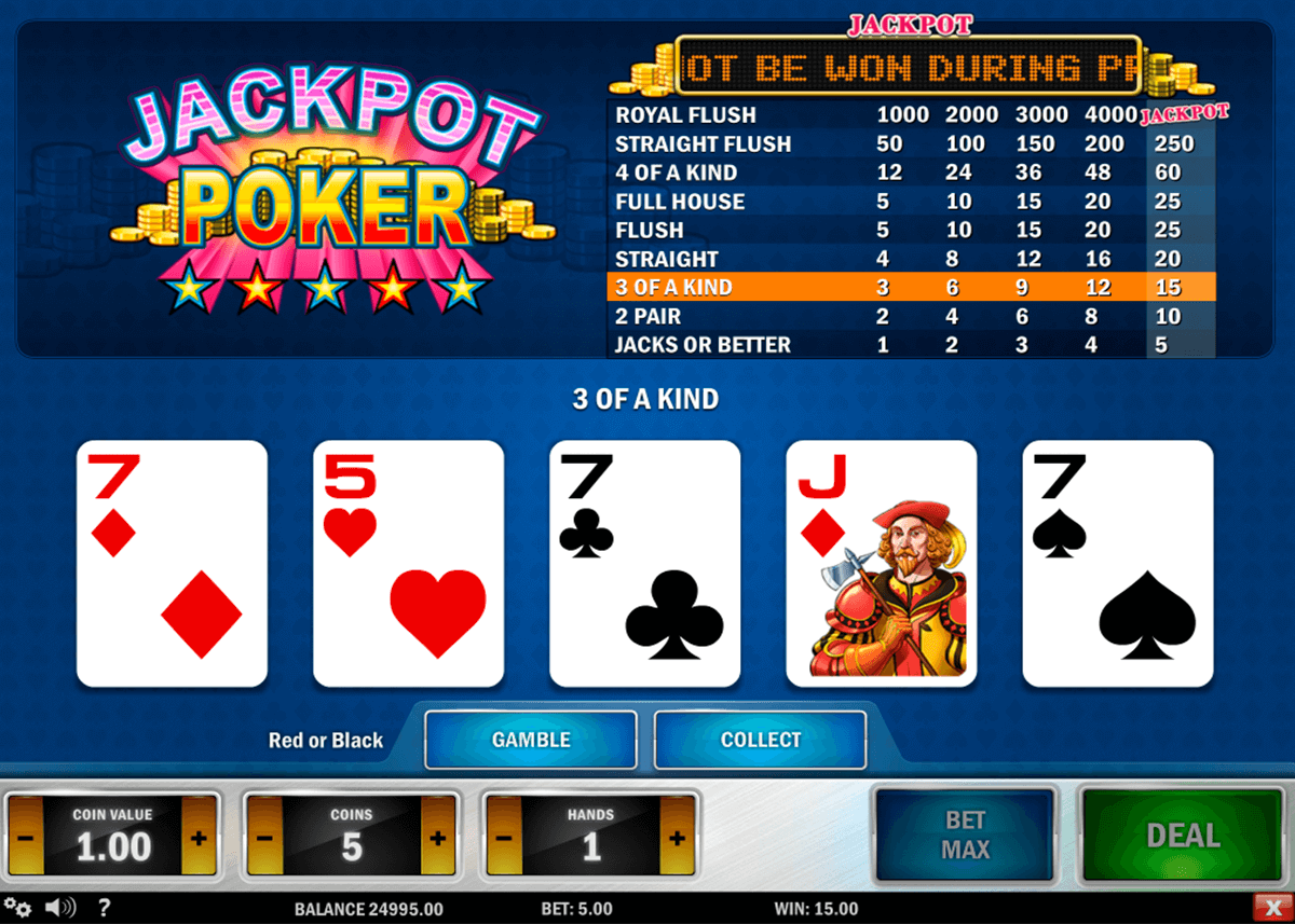 jackpot poker playn go video poker