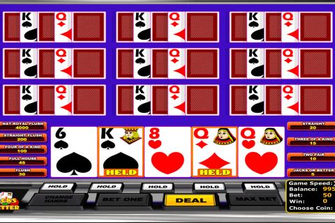 jacks or better betsoft video poker