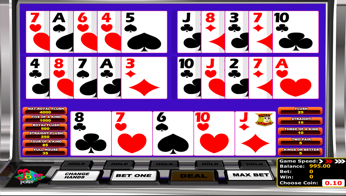 joker poker betsoft video poker