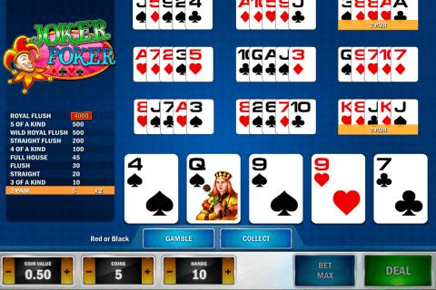 joker poker playn go video poker