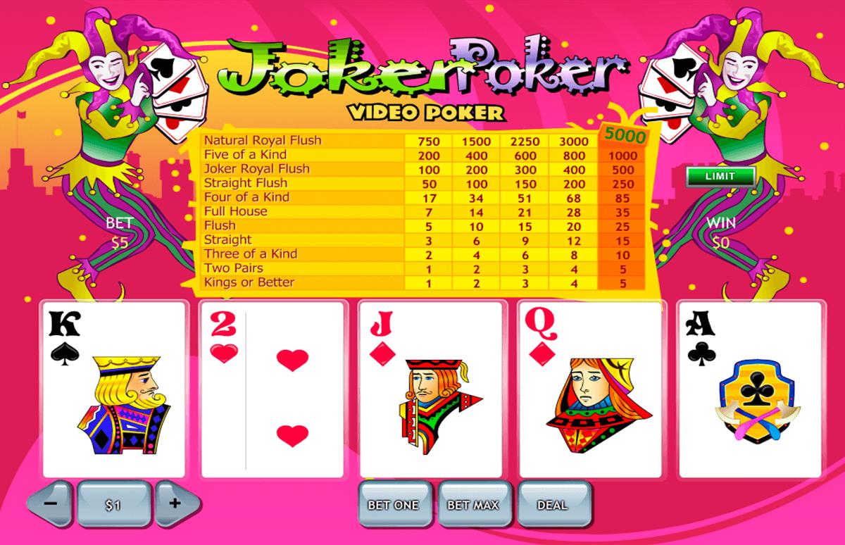 joker poker playtech video poker