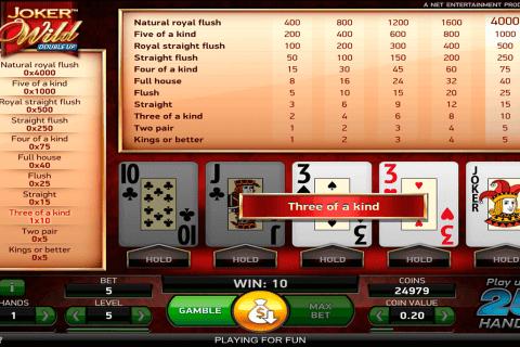 joker wild netent video poker