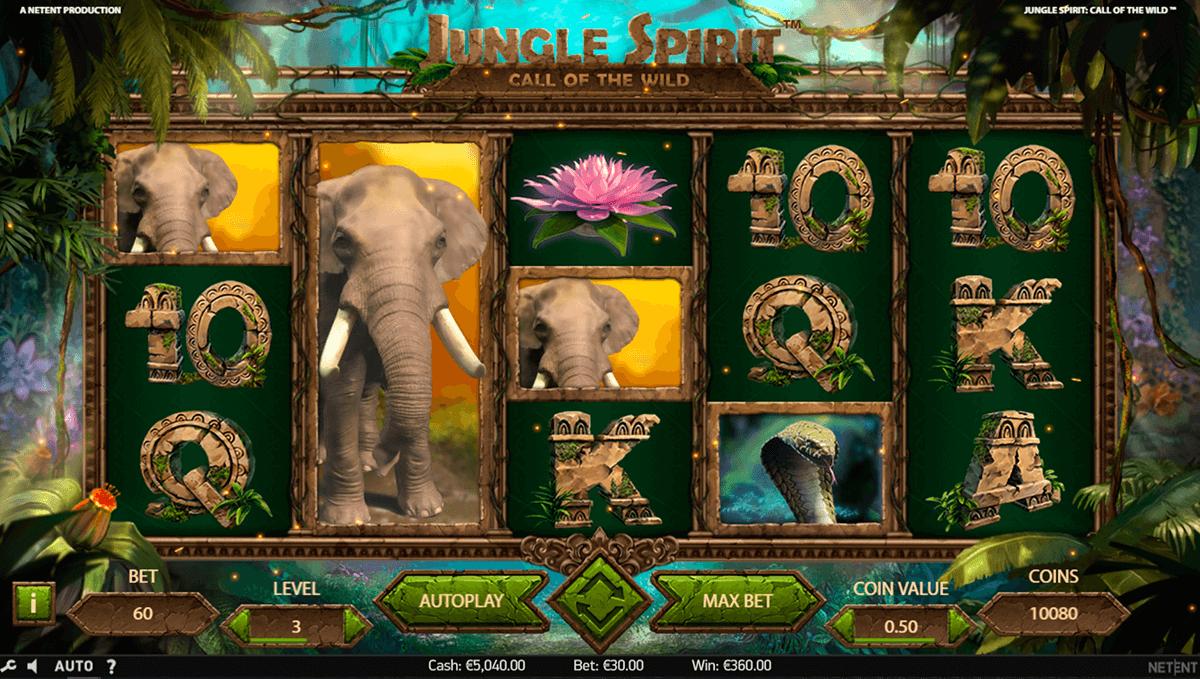 jungle spirit call of the wild netent pokie