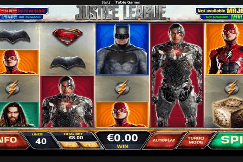 justice league playtech pokie