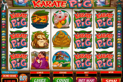 karate pig microgaming pokie
