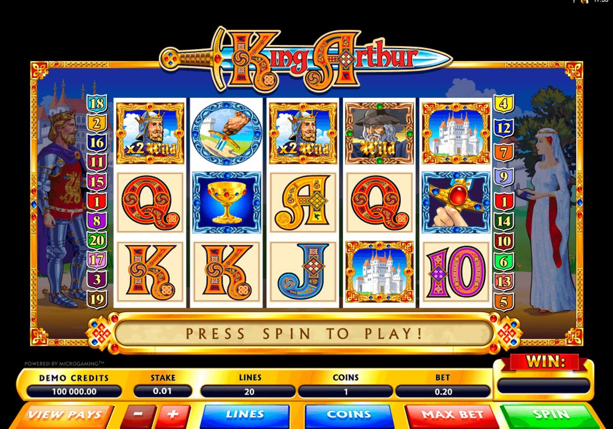 King Arthur Slot Machine Play Free Microgaming Pokies Online