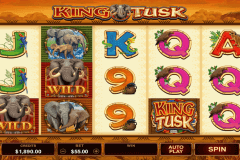 king tusk microgaming pokie