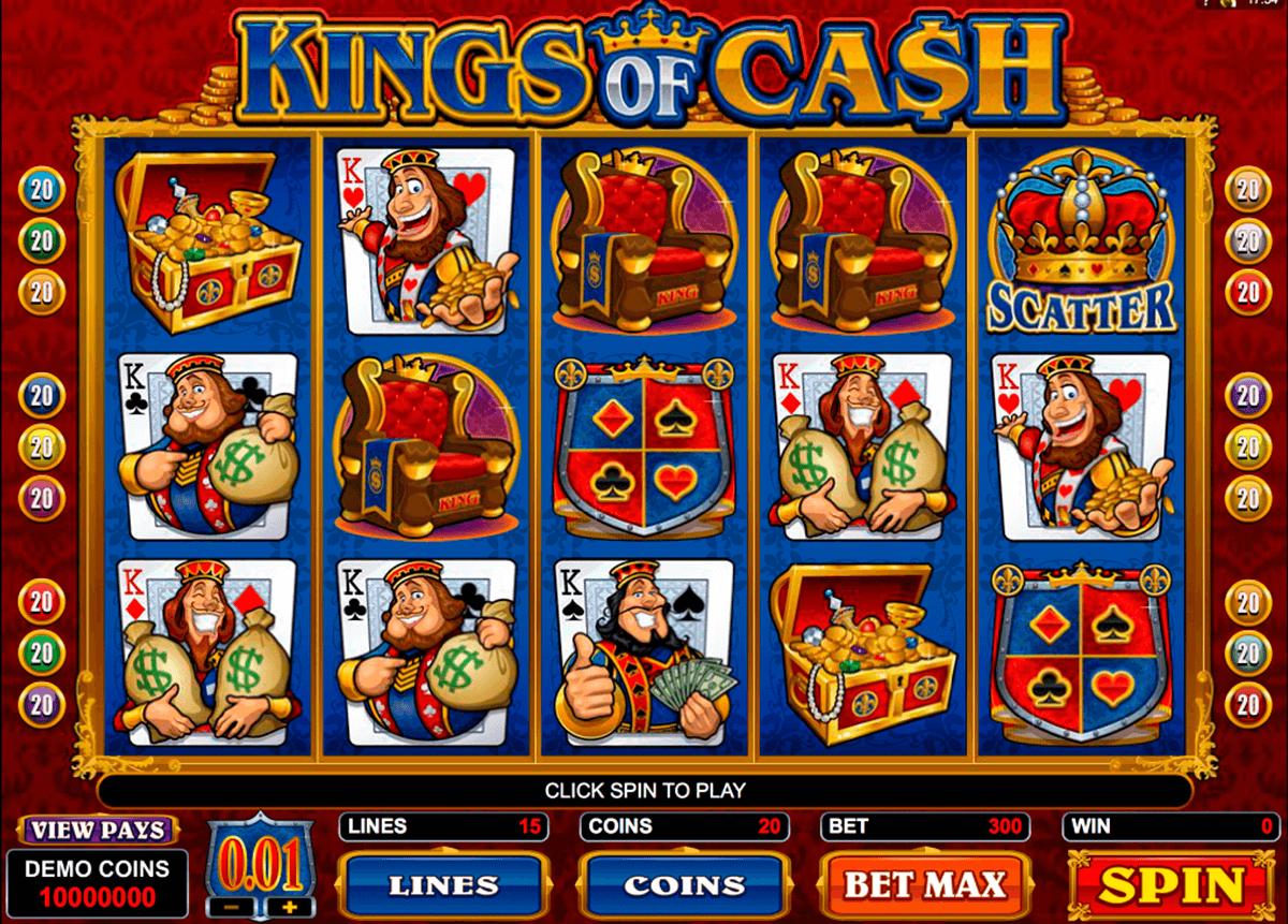 kings of cash microgaming pokie