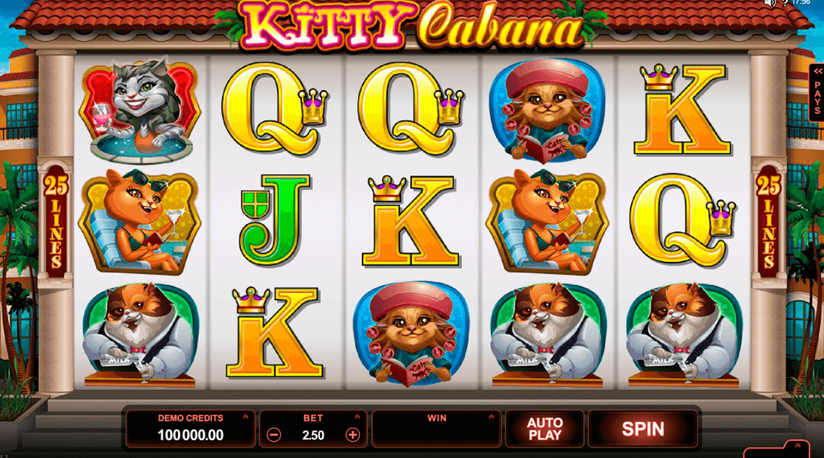kitty cabana microgaming pokie