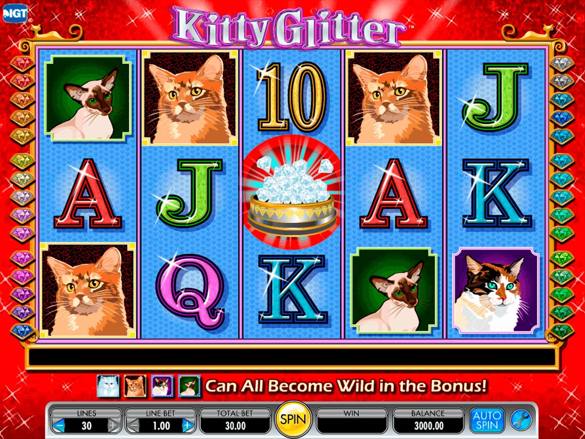 kitty glitter igt pokie