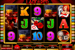lady in red microgaming pokie