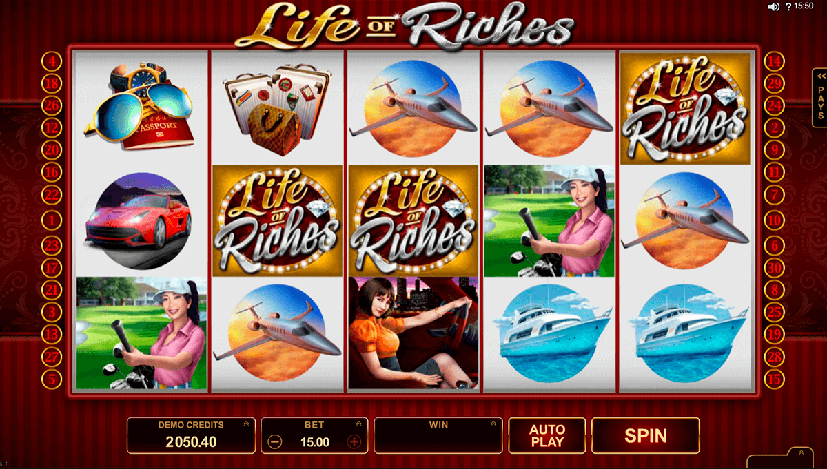 life of riches microgaming pokie