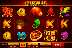 lucky firecracker microgaming pokie