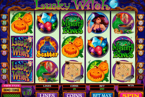 lucky witch microgaming pokie