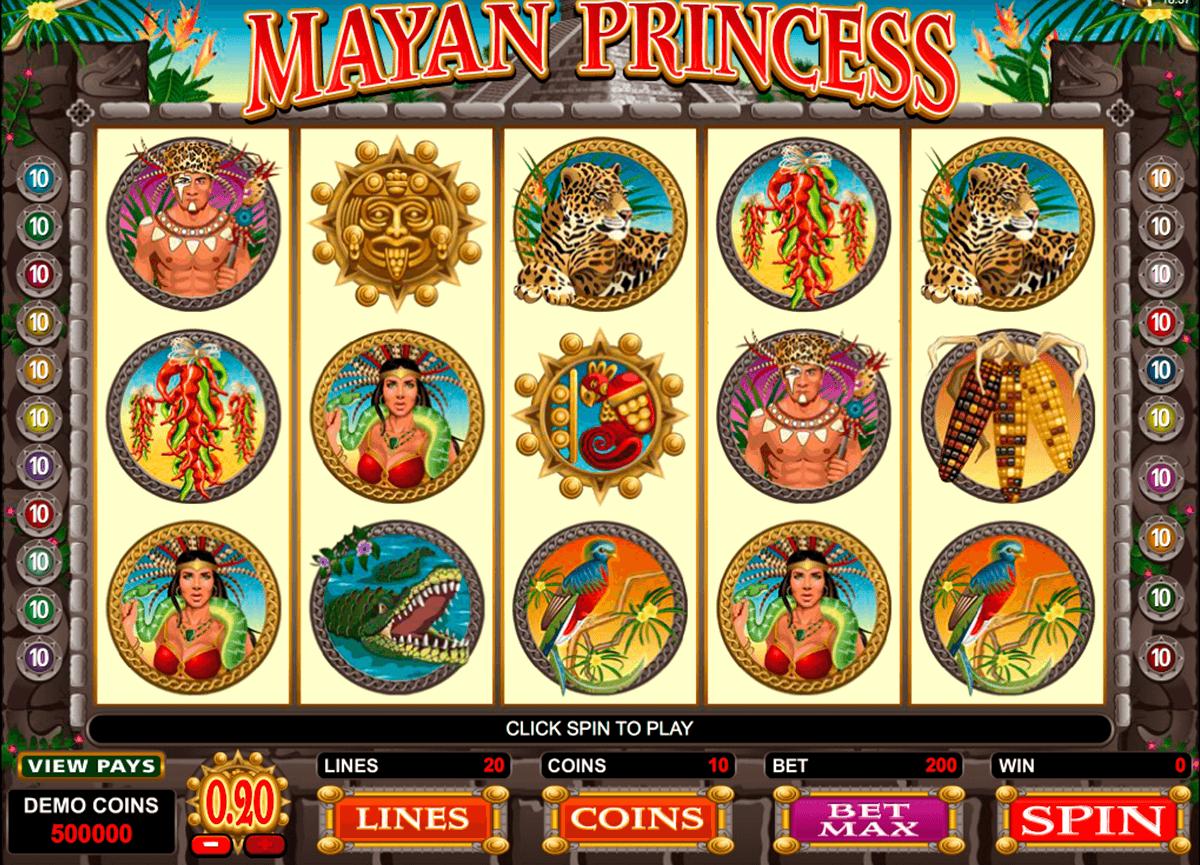 mayan princess microgaming pokie