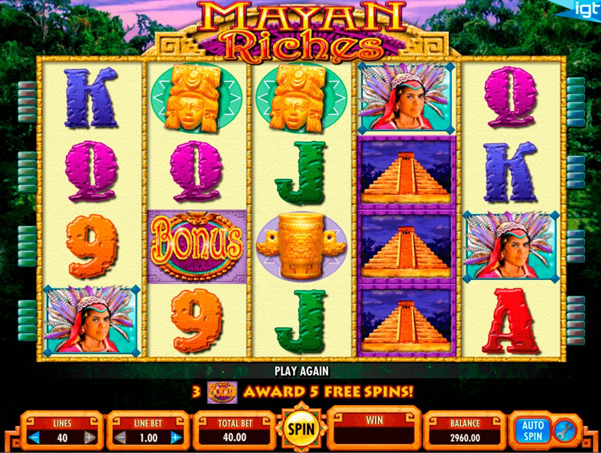 mayan riches igt pokie