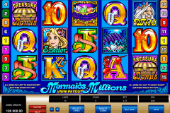mermaids millions microgaming pokie