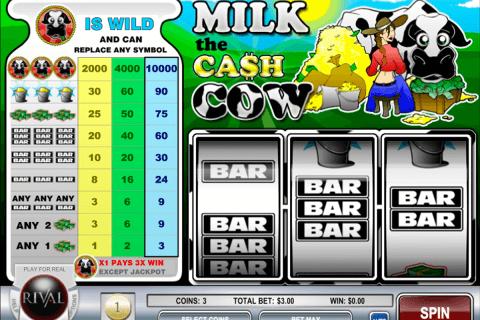 milk the cash cow rival pokie