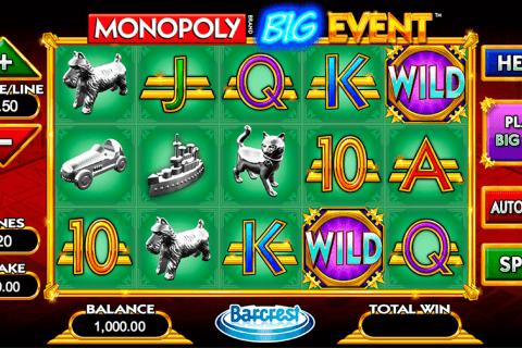monopoly big event wms pokie