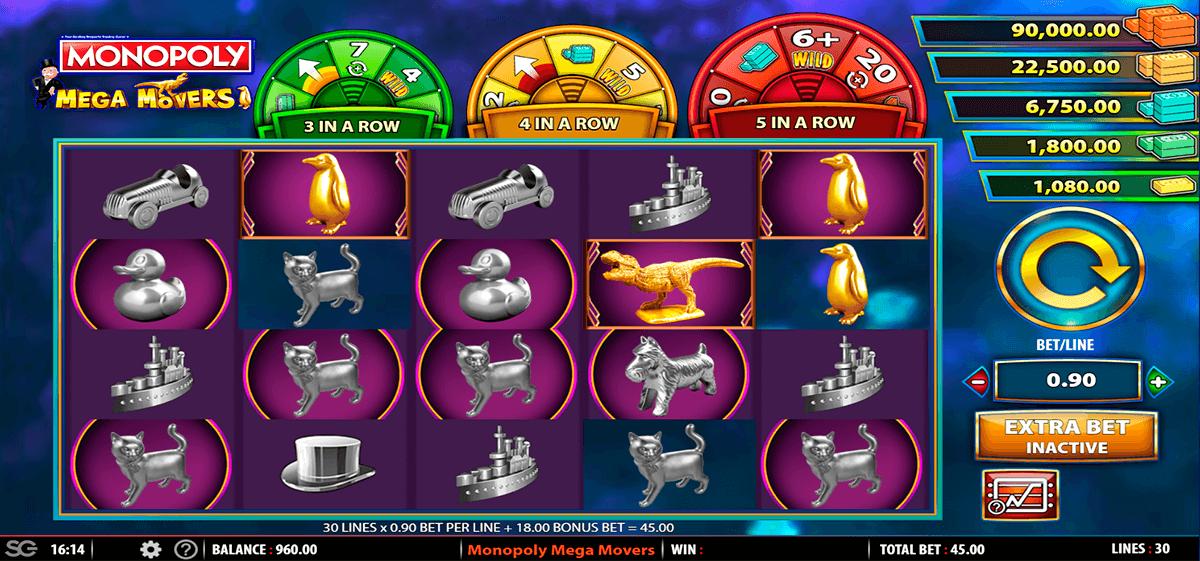 monopoly mega movers wms pokie