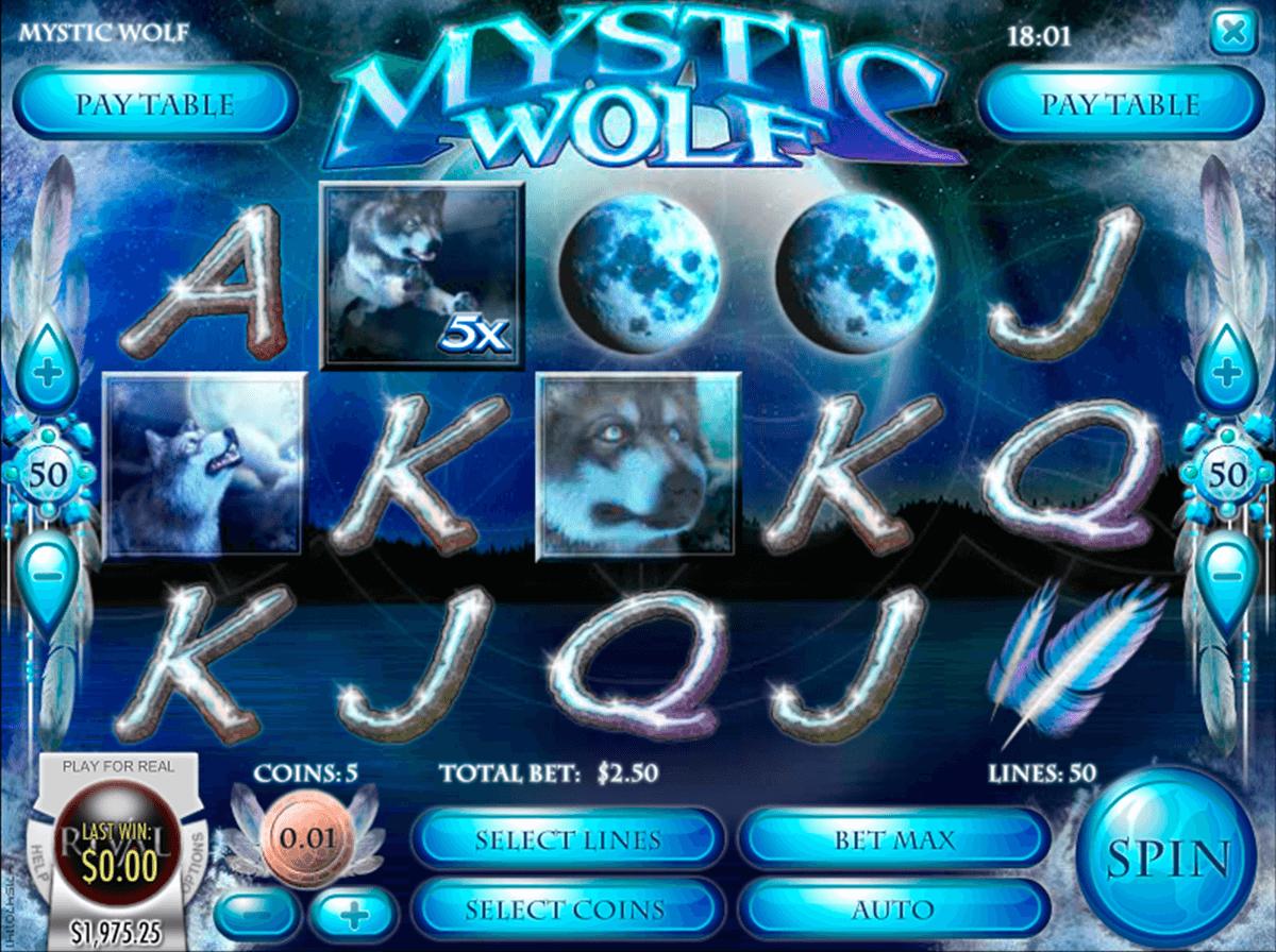 mystic wolf rival pokie